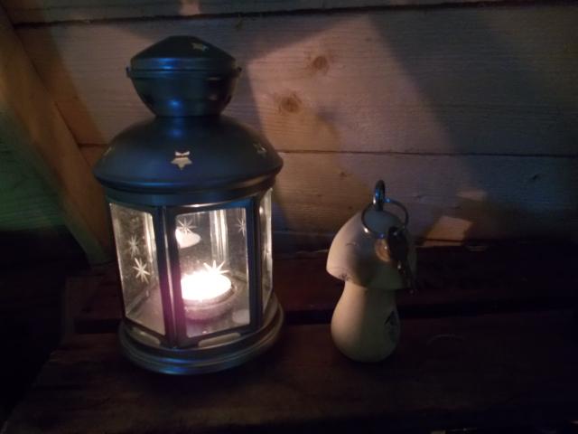 Clef champignon-mignon et lanterne :)